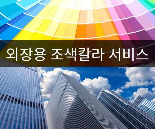 외장용 실리콘조색